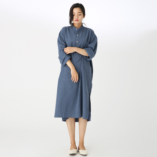 Natural washing cotton dress
