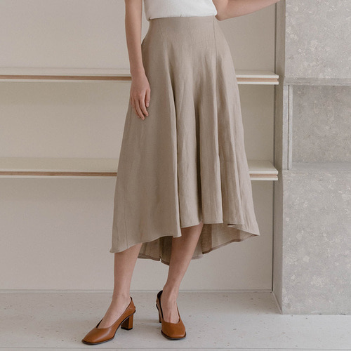 30%SALE/WAVE LINEN SKIRTS