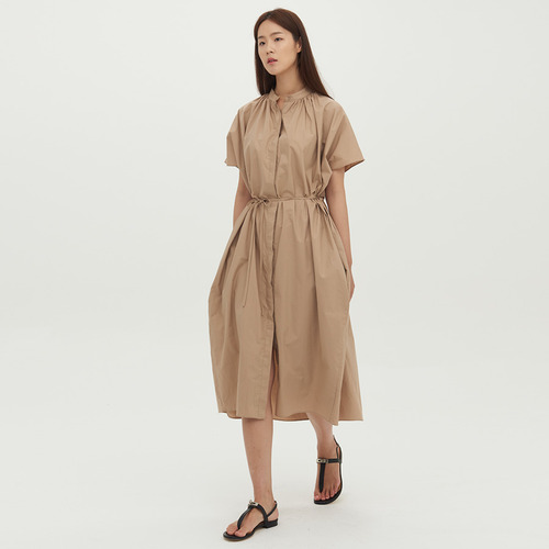 shirring shirt dress