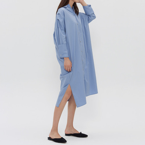OVERSIZED CUFFS SHIRTS DRESS