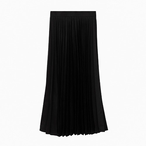 LINE WOOL PLEATS MAXI SKIRTS