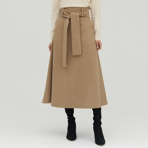 Belted A line skirts