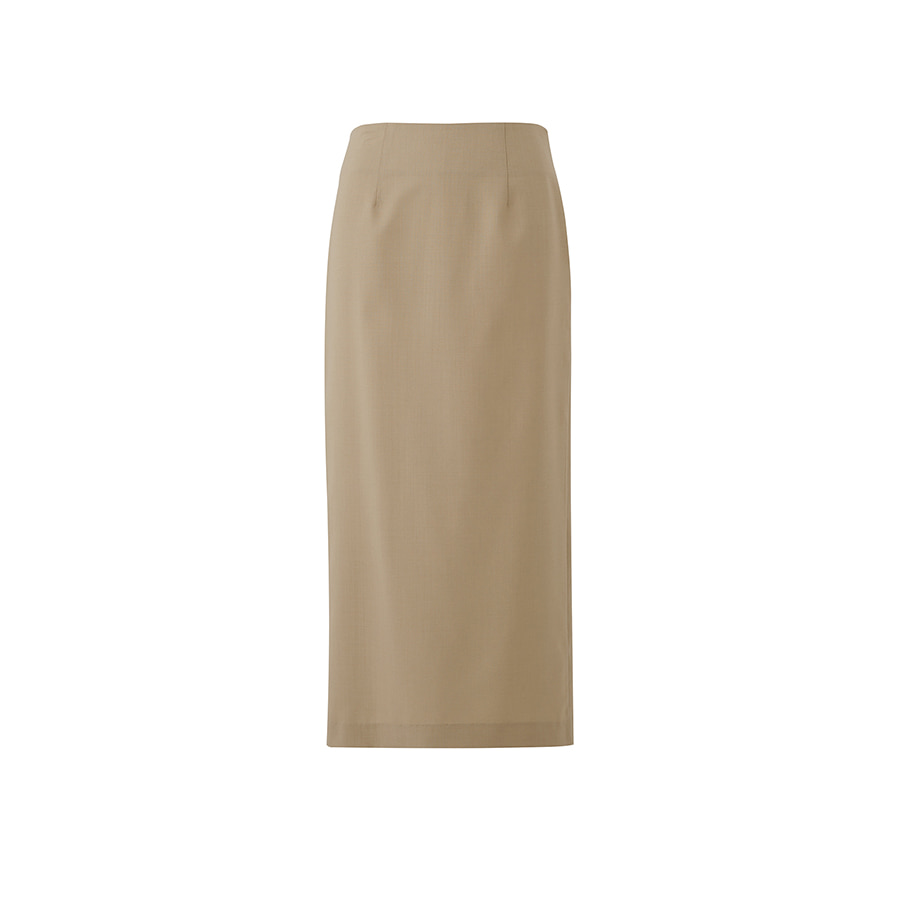 SUMMER LUX WOOL SLIT SKIRTS
