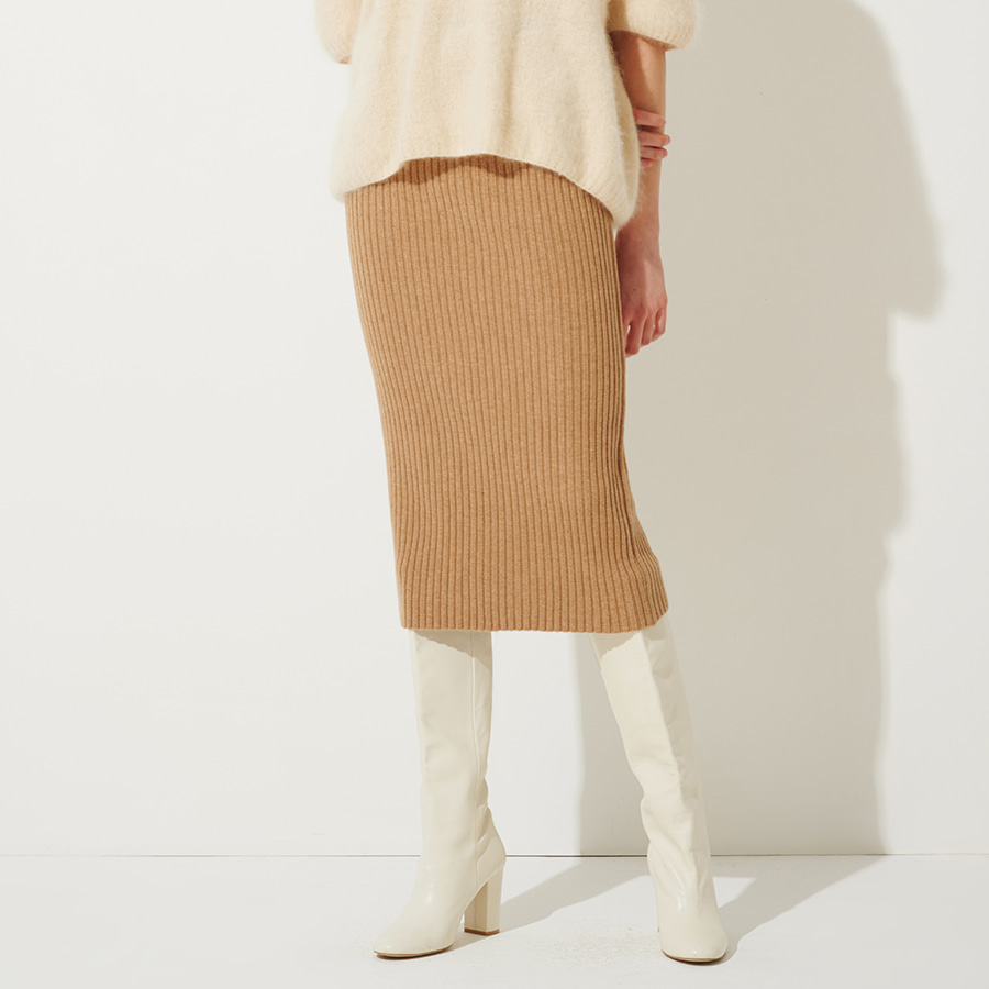 WINTER SOFT RIBBED SKIRTS