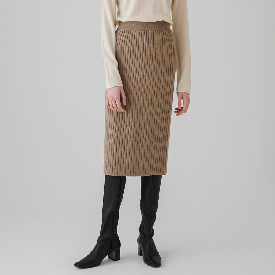Day stretch rib skirt