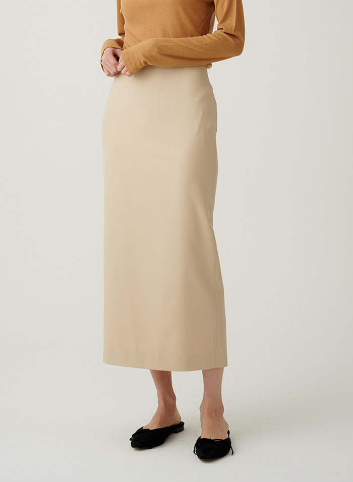 Getty summer wool H skirt