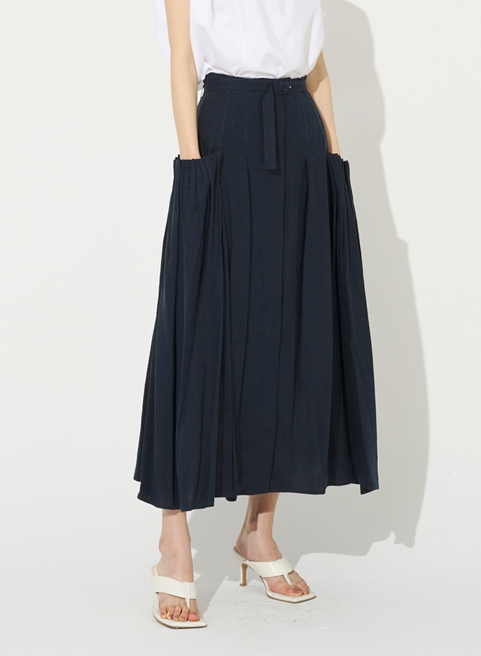 Wide and Wired Linen Skirt
