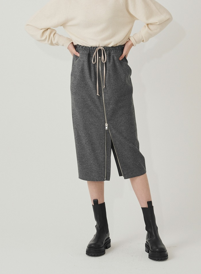 Fitts wool skirt