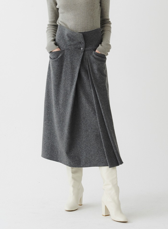 ARSEN button skirt