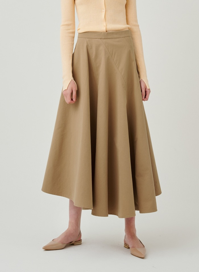 Bias cotton skirt
