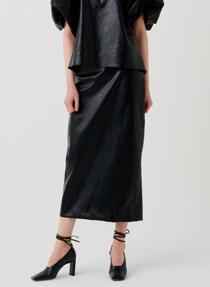Aro leather skirt