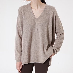 Pure v neck drop knit