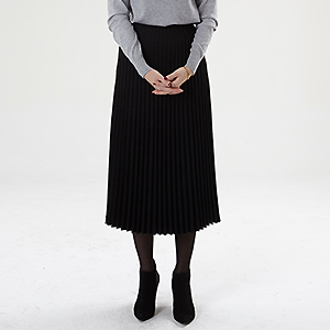 S.pleats long skirts