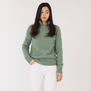 Angora zip-up KNIT