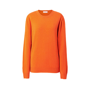 [ SUPER CASHMERE ] BASIC KNIT ORANGE / ONLY CASH