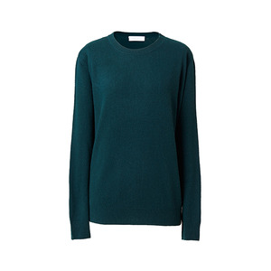 [ SUPER CASHMERE ] BASIC KNIT DARK GREEN / ONLY CASH
