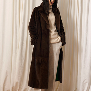 Imperial long mink coat