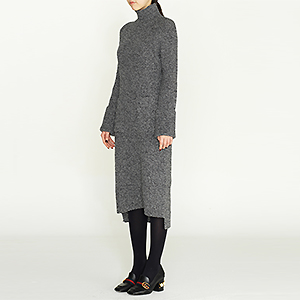 fine cashmere ports knit dress