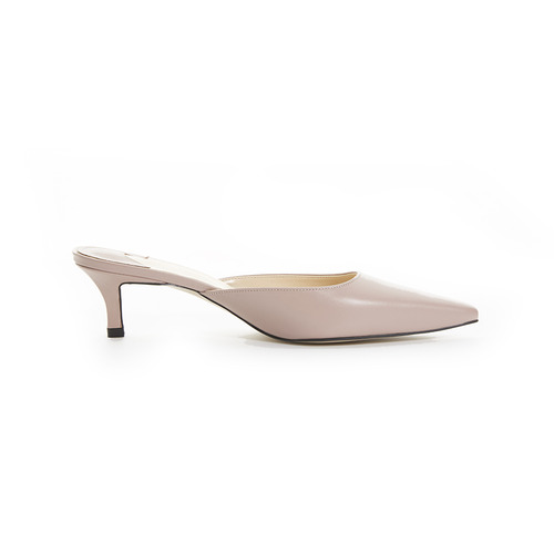 SIHWA BASIC SLIDE MULE LEATHER PALE PINK