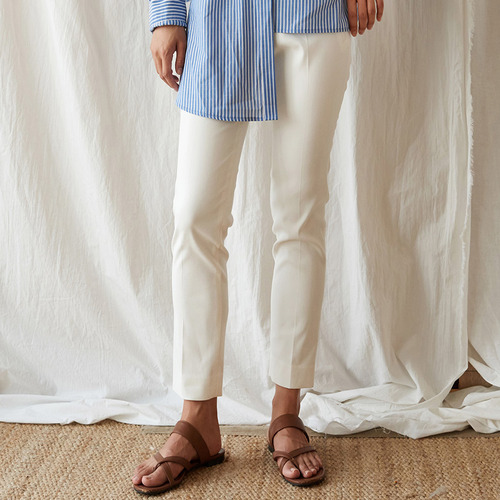 Nowa cropped cotton-blend straight-leg pants