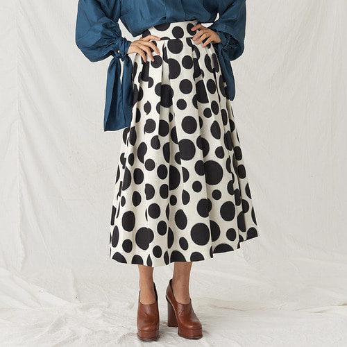 WOOL SILK DOT SKIRTS