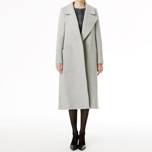 Masion wool side open coat