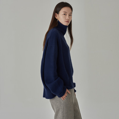 -15% 세일 /[ SUPER CASHMERE ] C.  cashmere turtle neck navy