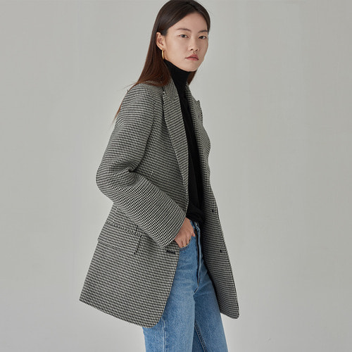 [50%SALE] HOUNDTOOTH CHECK JACKET
