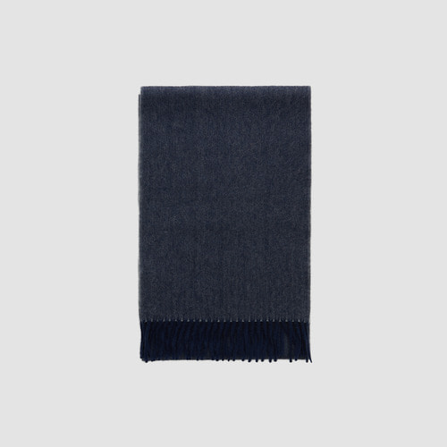 [ SUPER CASHMERE ] BASIC MUFFLER TWOTONE NAVY (12월25일 발송)