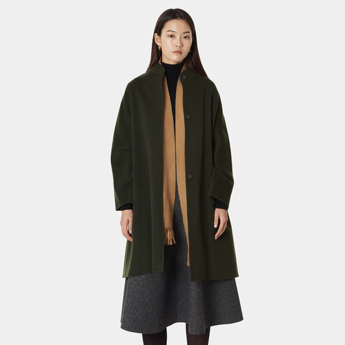 HIGHNECK CASHMERE BLENDED COAT