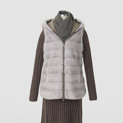 Loro Windmate Mink Fur Reversible Vest