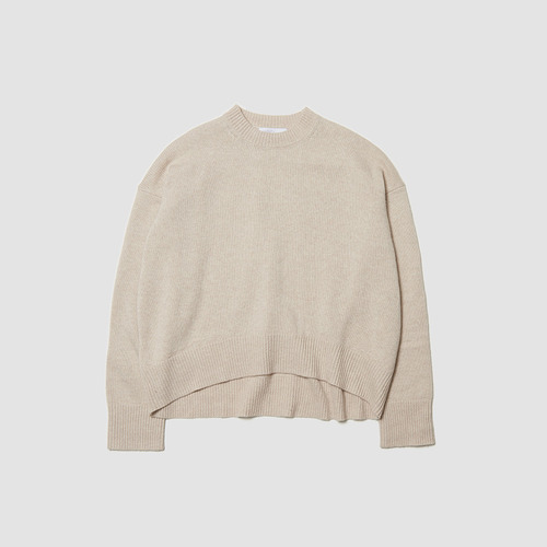 [ SUPER CASHMERE ] LOOSE FIT CREW NECK SWEATER