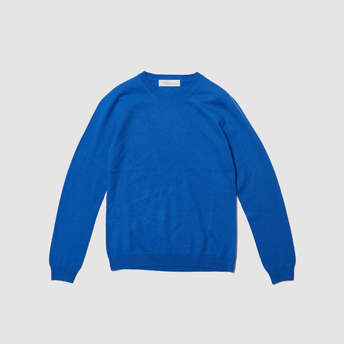 [ SUPERCASHMERE ] BASIC KNIT BLUE