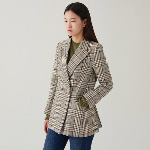 CNGET CHECK JACKET