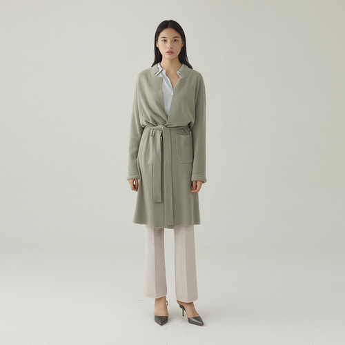 [ SUPERCASHMERE ] long belted cardigan / 당일발송