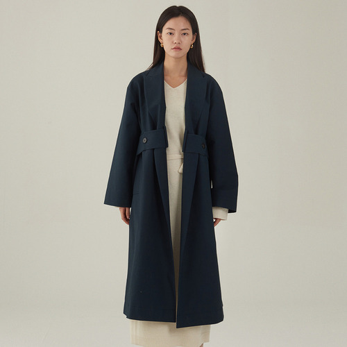 Di- waist belted trench coat