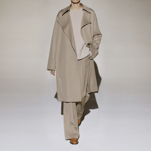 [40%SALE] Loreno wool twill trench coat