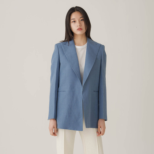 40%SALE / Cel. Big lapel Linen jacket
