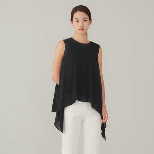 sleeveless wave top
