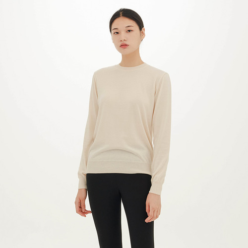 ROUND COTTON SWEATER