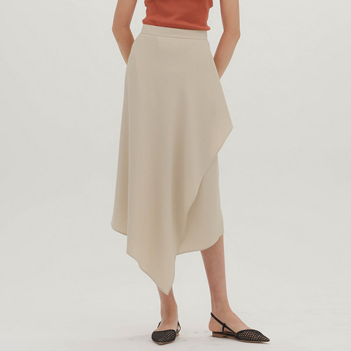 UNBALANCE WRAP SKIRT