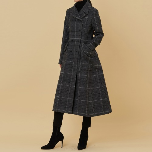 Di. collection check long coat