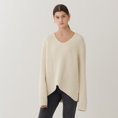 DROP V NECK SWEATER