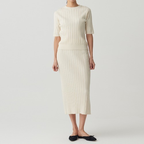 Soft ribbed knit two-piece