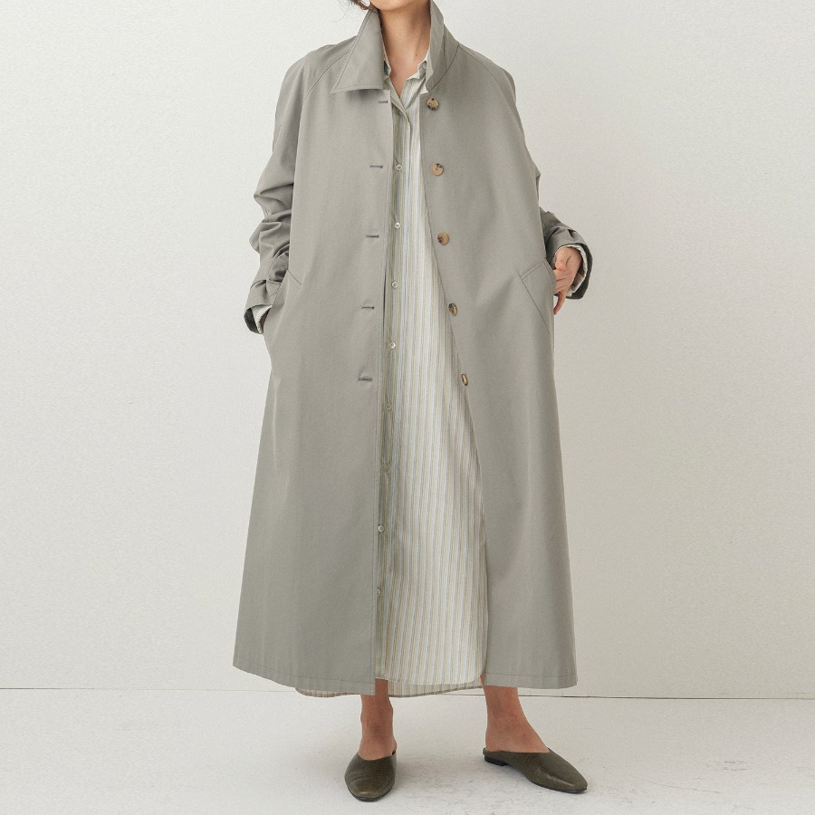 Fresh cotton trench coat