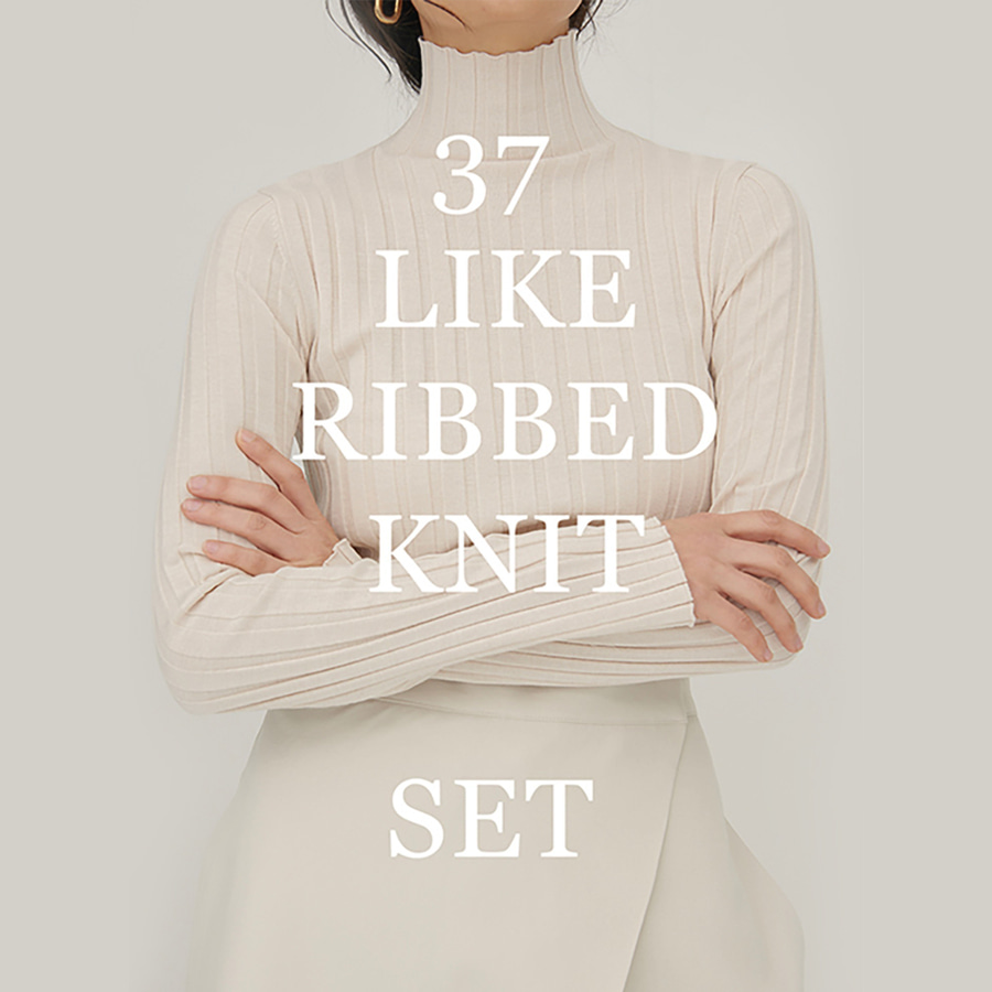 37 LIKE RIBBED KNIT SET