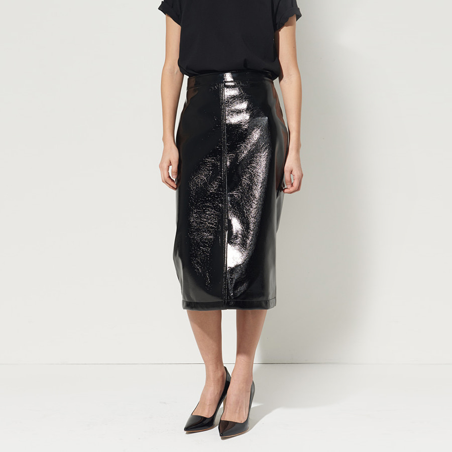 Veronica fake leather skirt