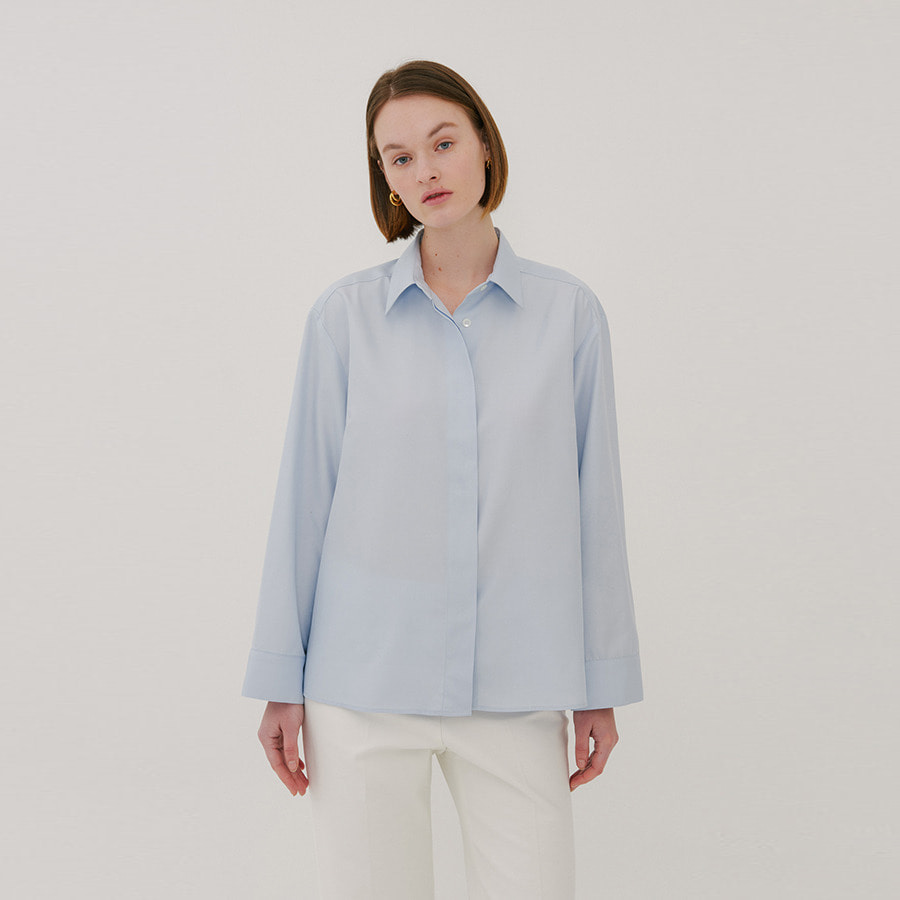 Gianna silk collar shirts