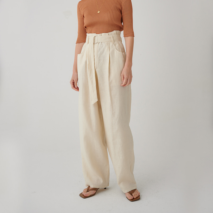 Linen relaxed pants