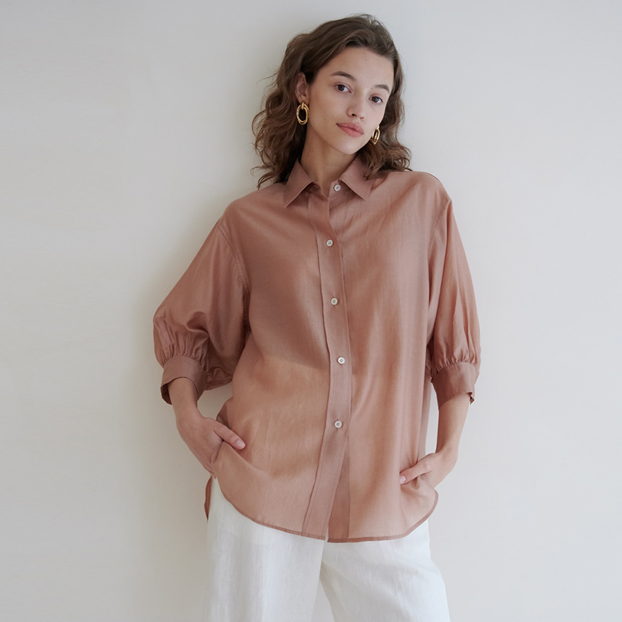 Ruched sleeve point shirts